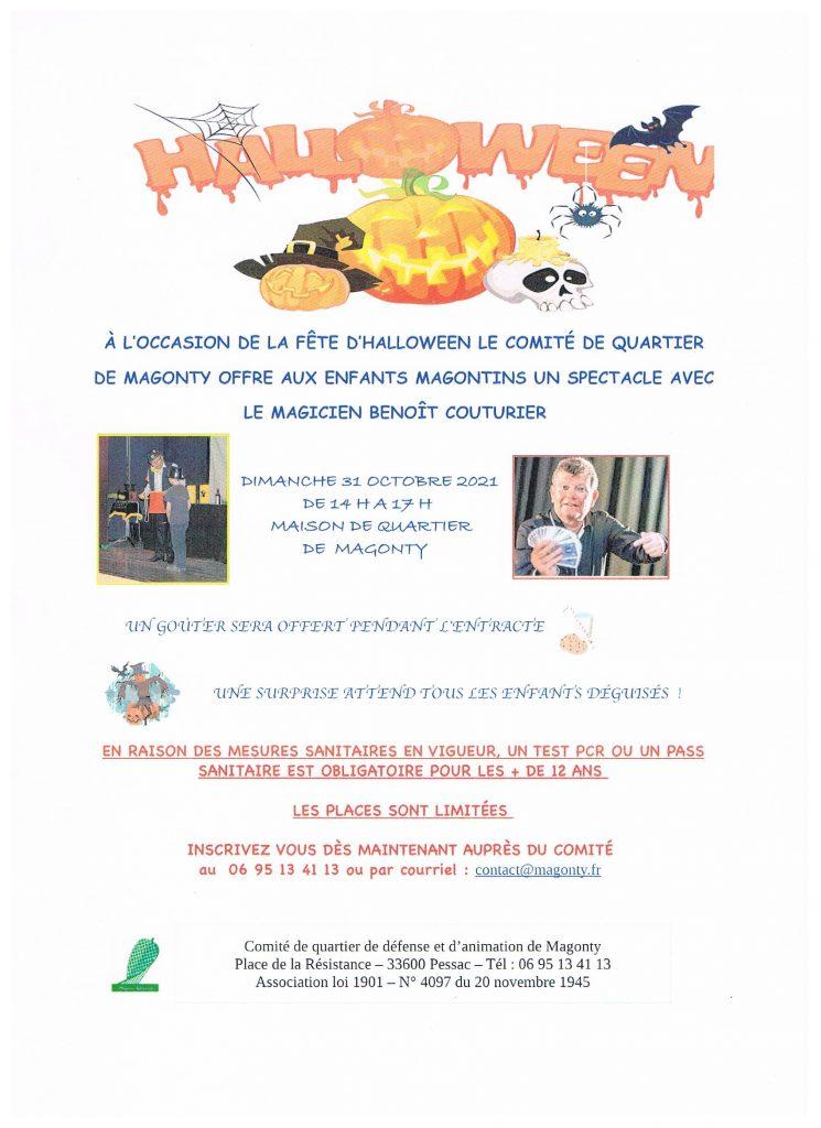 Un spectacle avec le magicien Benoît Couturier le 31 octobre !